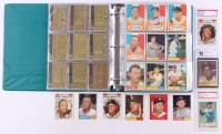 Complete Set of (587) 1961 Topps Baseball Cards with #405 Gehrig Benched (PSA 5), #578 Mickey Mantle (PSA 3), #557 Jose Valdivielso (Golbal 4), Mickey Mantle #475, #2 Roger Maris, #577 Hank Aaron