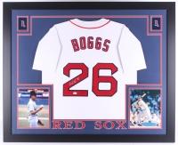"Wade Boggs Signed Red Sox 35"" x 43"" Custom Framed Jersey Inscribed ""HOF 05"" (JSA COA)"