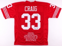 Roger Craig Signed 49ers Career Highlight Stat Jersey (PSA COA & Craig Hologram) at PristineAuction.com