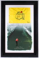 Tiger Woods Signed 2005 Masters 30.5x46.5 Custom Framed Limited Edition Pin Flag on Canvas #446/500 (UDA COA)