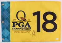 Dustin Johnson Signed 2017 PGA Championship Pin Flag (JSA COA)