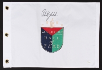 Phil Mickelson Signed World Golf Hall of Fame Pin Flag (JSA LOA)