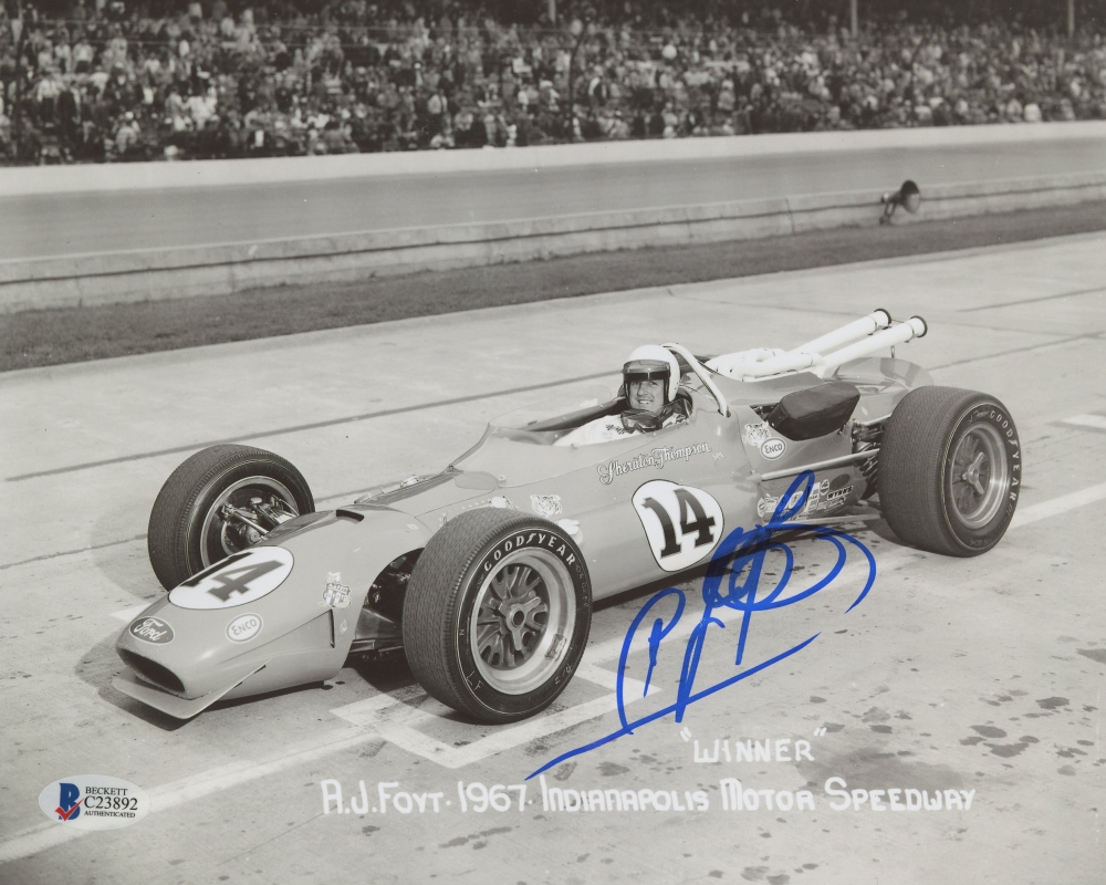 Other collectible lots collectibles a j foyt signed 8 x 10 indianapolis 500 photo autographed indy car racing