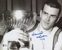 Dave Keon Signed Stanley Cup 8x10 Photo (Beckett COA) at PristineAuction.com