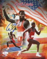 Carl Lewis Signed Team USA 8x10 Photo (JSA COA)