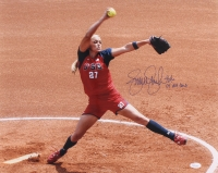 "Jennie Finch Signed Team USA 16x20 Photo Inscribed ""04' USA Gold"" (JSA COA)"