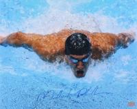 Michael Phelps Signed Team USA 16x20 Photo (GTSM Phelps COA)