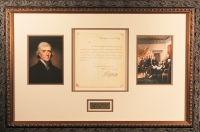 Thomas Jefferson Signed 20x30 Custom Framed Hand-Written Letter Dated March 4th, 1791 (PSA LOA)