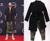 D'Angelo Russell 2017 Espy Awards Event-Worn Wardrobe with Jacket, Shirt & Pants (PA LOA) at PristineAuction.com