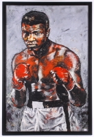 Muhammad Ali Signed 29.5x43.5 LE Custom Framed Stephen Holland Giclee on Canvas (PSA LOA)