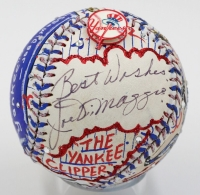 "Joe DiMaggio Signed Baseball Hand-Painted by Charles Fazzino Inscribed ""Best Wishes"" (PSA LOA)"