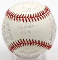 1999 New York Yankees LE 1999 World Series Baseball Team-Signed by (19) with Derek Jeter, Andy Pettitte, Mariano Rivera, Jorge Posada, Bernie Williams (JSA LOA)