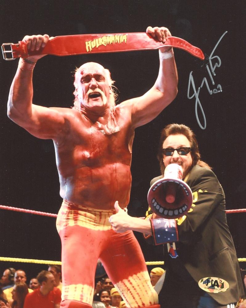 Jimmy Hart Signed Hulkamania 8x10 Photo (MAB Hologram) at PristineAuction.com