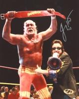 Jimmy Hart Signed Hulkamania 8x10 Photo (MAB Hologram)