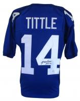 """Y. A. Tittle Signed Giants Pro-Style Jersey Inscribed """"HOF 71"""" (JSA COA)"""