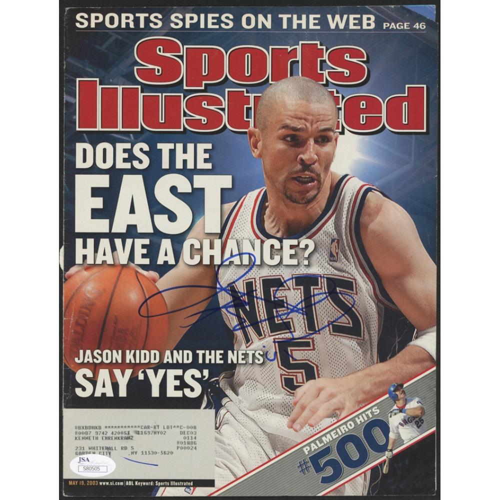 5ec22368d8b Jason Kidd Signed Sports Illustrated Magazine Cover (JSA COA)