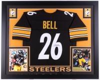 """Le'Veon Bell Signed Steelers 35"""" x 43"""" Custom Framed Jersey (JSA COA)"""