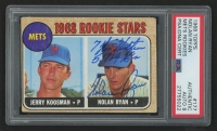 "Nolan Ryan Signed 1968 Topps #177 Rookie Stars/Jerry Koosman RC/Nolan Ryan RC Inscribed ""7 No-Hitters"" & ""5,714 K's"" (PSA Encapsulated - Autograph Graded 8)"