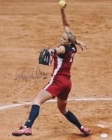 "Jennie Finch Signed Team USA 16x20 Photo Inscribed ""USA"" (JSA COA)"