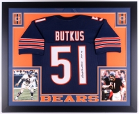"Dick Butkus Signed Bears 35"" x 43"" Custom Framed Jersey Inscribed ""HOF 79"" (JSA COA)"