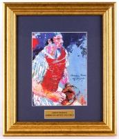 "LeRoy Neiman ""Thurman Munson"" 12.75x14.75 Custom Framed Print Display"
