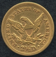 1852 - 2 1/2 Dollars ($2.50) Liberty Head Quarter Eagle Gold Coin (High Grade Condition) at PristineAuction.com