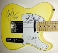 "Robby Krieger, Ray Manzarek & John Densmore Signed Full-Size Huntington Electric Guitar Inscribed ""LMF""  (JSA LOA)"