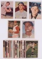 Lot of (20) 1957 Topps Baseball Cards with #66 Brooks Lawrence, #64 James Runnels, #286 Bobby Richards, #207 Billy Hunter, #209 Bob Skinner