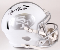 Joe Montana Signed 49ers Full-Size Custom Matte White ICE Speed Helmet (PSA COA)