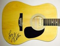 "Lynda Carter Signed Full-Size Huntington Acoustic Guitar Inscribed ""Love"" (JSA LOA)"