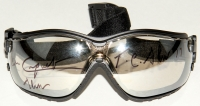 """Jean Cruguet Signed Jockey Goggles Inscribed """"T.C. Slew 77"""" & """"Slew"""" (MAB Hologram)"""
