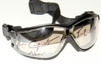"Jean Cruguet Signed Jockey Goggles Inscribed ""T.C. Slew 77"" & ""Slew"" (MAB Hologram) at PristineAuction.com"