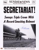 Ron Turcotte Signed Secretariat 16x20 Photo (MAB Hologram)