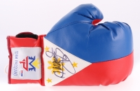 "Manny Pacquiao Signed ""Flag of the Philippines"" Boxing Glove (PSA COA)"