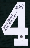 Brett Favre Signed Packers Jersey With (5) Career Stat Inscriptions (JSA COA & Favre Hologram) at PristineAuction.com