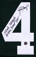 "Brett Favre Signed Packers Jersey Inscribed ""508 Tds 71,858 yds 185 Wins 3x MVP '297'"" (JSA COA & Favre Hologram) at PristineAuction.com"