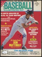 Don Mattingly Signed Baseball Illustrated Magazine (JSA COA)