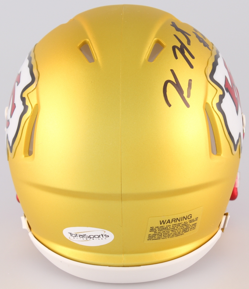 3991dbb1c Kareem Hunt Signed Chiefs Blaze Mini Helmet (TSE COA) at PristineAuction.com