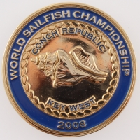 Norman Schwarzkopf Jr. & Guy Harvey Signed 2008 World Sailfish Championship Commemorative Coin Case (JSA COA) at PristineAuction.com