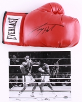 Lot of (2) Larry Holmes Signed Boxing Items with (1) 8x10 Photo & (1) Everlast Boxing Glove (Schwartz COA)