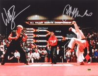 "William Zabka & Ralph Macchio Signed ""The Karate Kid"" 11x14 Photo (CAS)"
