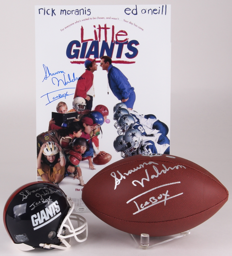 Lot of (3) Shawna Waldron Signed Football Items with (1) Giants Mini a5b176c92