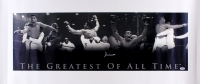 "Muhammad Ali Signed ""The Greatest of All Time"" 17.75x41.5 Photo on Canvas (PSA LOA)"