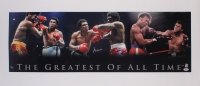"Muhammad Ali Signed ""The Greatest of All Time"" 18x41.5 Photo on Canvas (PSA LOA & Ali - Autograph Graded 10)"