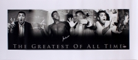 "Muhammad Ali Signed ""The Greatest of All Time"" 18x42 Photo on Canvas (PSA)"