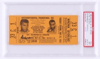 Muhammad Ali Signed Original 1965 Heavyweight Championship Title Bout Ticket (PSA Encapsulated & Autograph Graded 10)