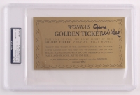 "Gene Wilder Signed Willy Wonka & the Chocolate Factory ""Wonka's Golden Ticket"" Movie Prop Replica (PSA Encapsulated, PSA Hologram, & Autograph Graded 10)"