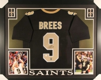 "Drew Brees Signed Saints 35"" x 43"" Custom Framed Jersey (JSA COA & Brees Hologram)"