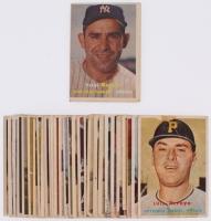 Lot of (30) 1957 Topps Baseball Cards with #2 Yogi Berra