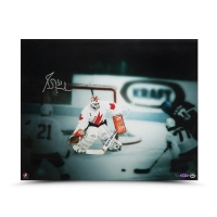 "Grant Fuhr Signed Team Canada ""1987 Canada Cup"" LE 16x20 Photo (UDA COA) at PristineAuction.com"